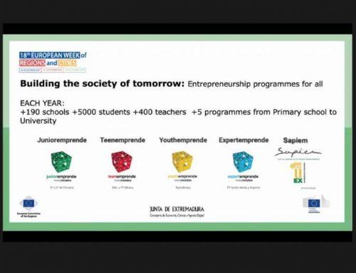 Extremadura presenta su estrategia de educación para el emprendimiento en la Semana Europea de las Regiones y Ciudades
