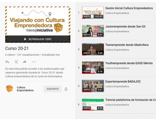 Sesión Inicial de Cultura Emprendedora en Youtube
